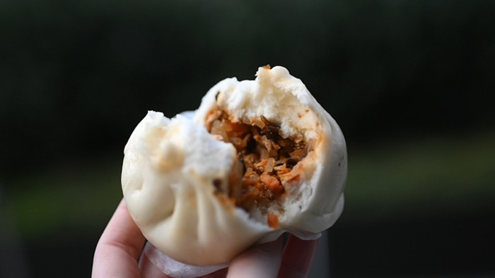 Interior: chicken curry bao