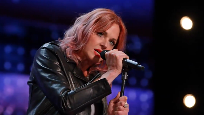 Portlands own Storm Large knocks Americas Got Talent judges on their asses. (No surprise there!)