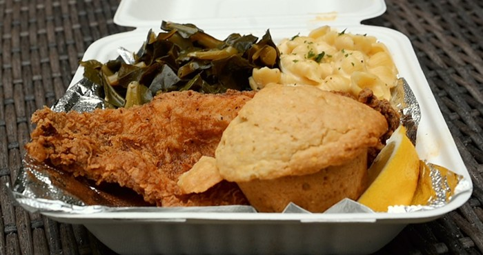 Fried catfish from Ericas Soul Food