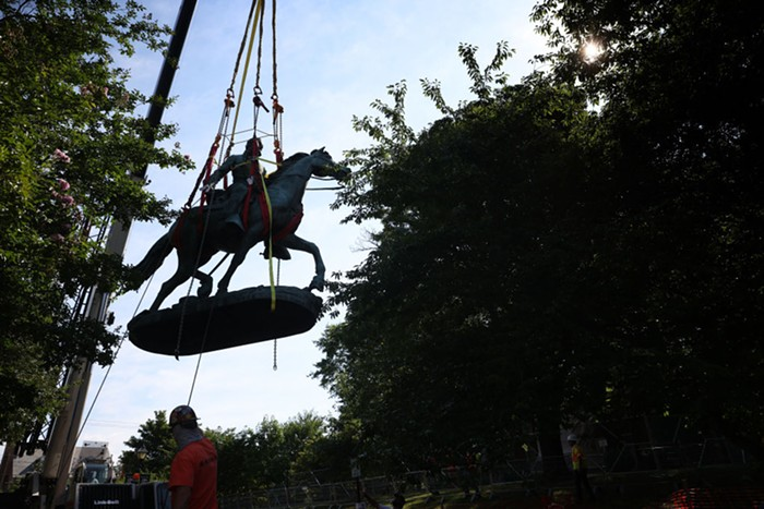 A statue of Robert E. Lee was removed from Charlottesville, VA Saturday
