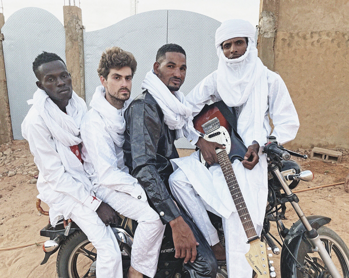 Mdou Moctar and his band.