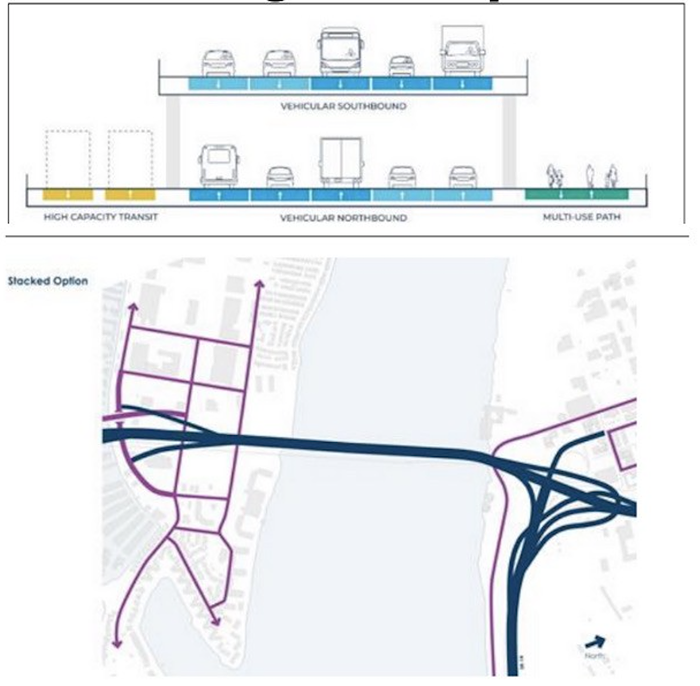 One of the designs currently being considered to replace the I-5 bridge.