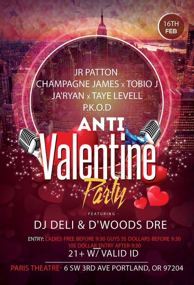 The Anti Valentine Party At Paris Theater In Portland Or On Thu