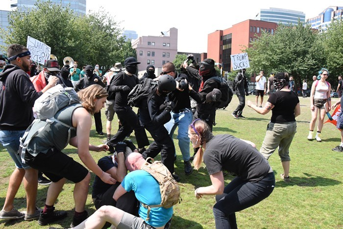 Fights during last months Patriot Prayer rally in Portland