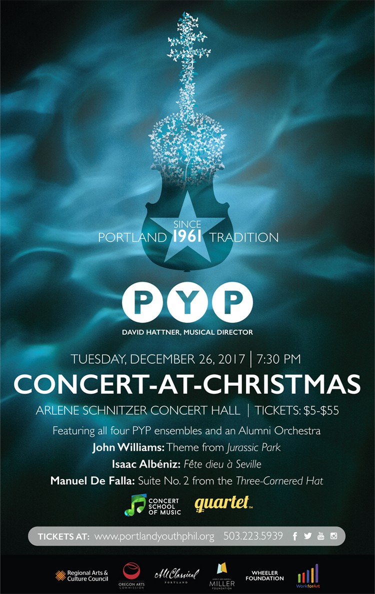 Portland Youth Philharmonic Concert At Chistmas At Arlene Schnitzer - Arlene schnitzer concert hall parking