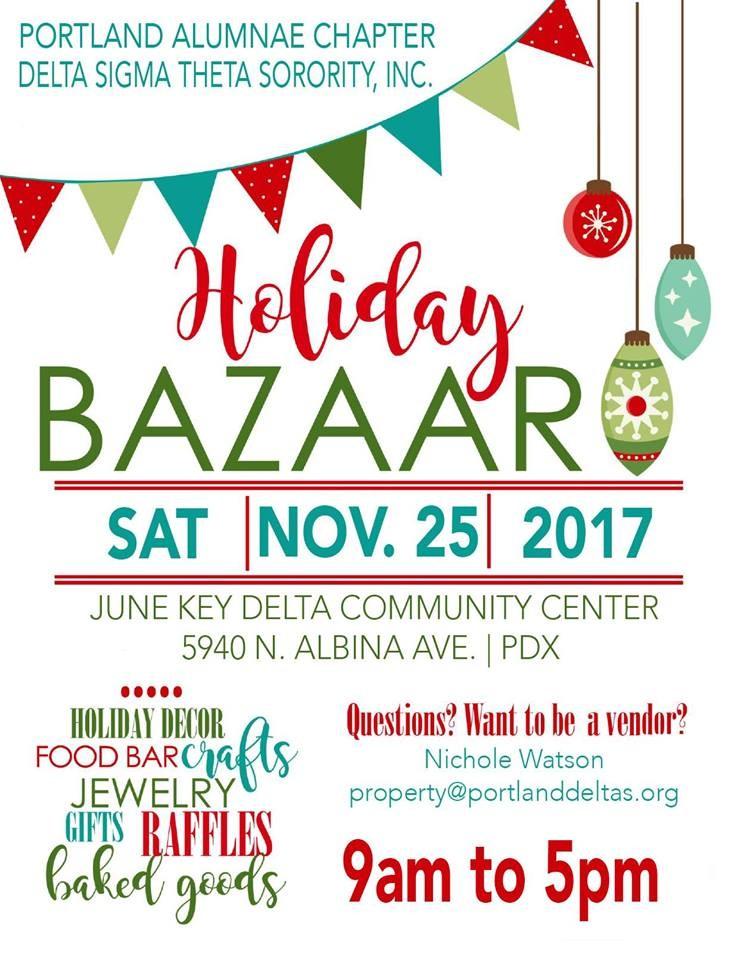 2017 black holiday bazaar at 5940 n albina in portland for Holiday craft fairs portland oregon