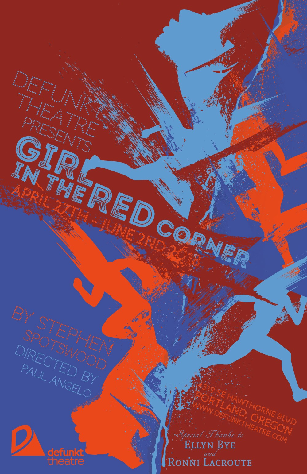Girl In The Red Corner At Back Door Theater In Portland Oregon On