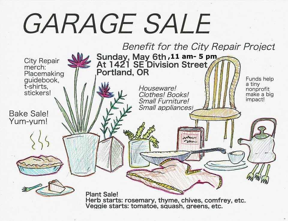 Garage Sale For City Repair