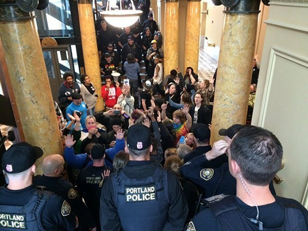 City Hall protests during the end of 2016s PPA contract negotiations.