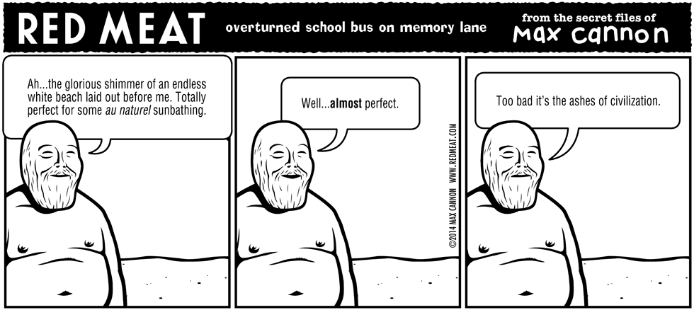 overturned school bus on memory lane