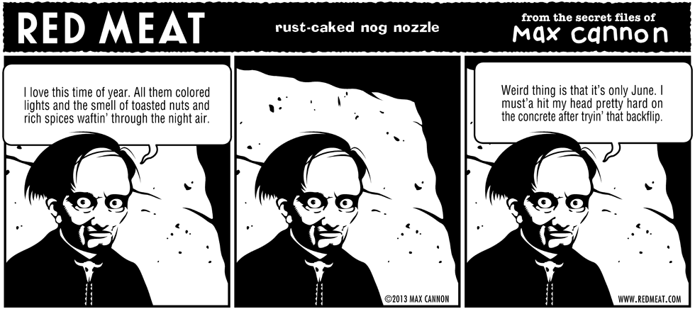rust-caked nog nozzle