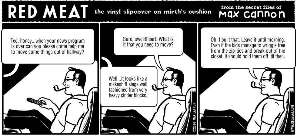 the vinyl slipcover on mirth's cushion