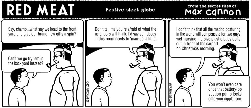 festive sleet globe