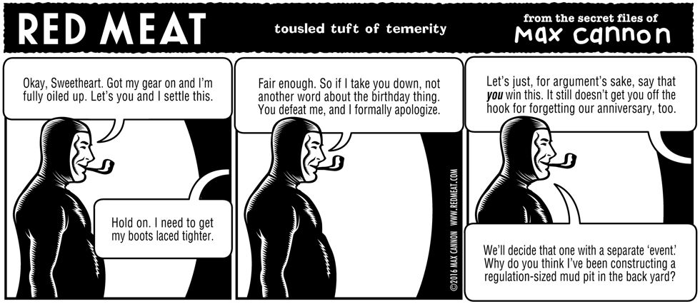 tousled tuft of temerity