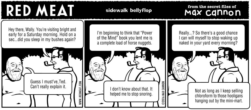 sidewalk bellyflop