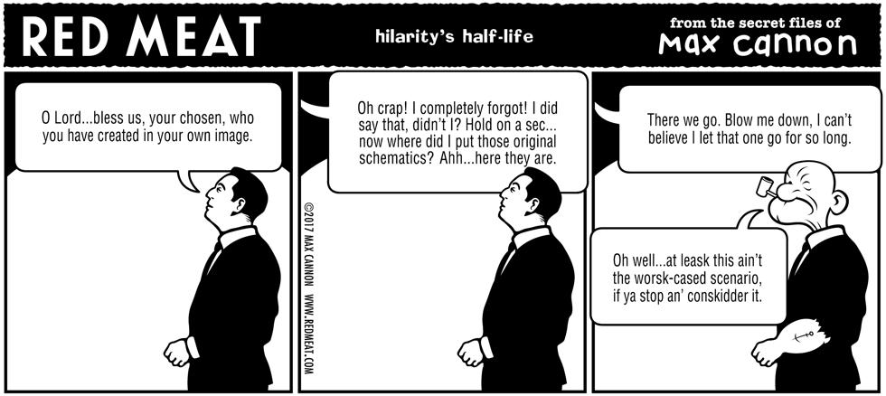 hilarity's half-life