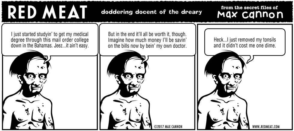 doddering docent of the dreary