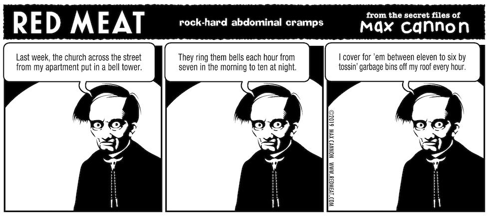 rock-hard abdominal cramps