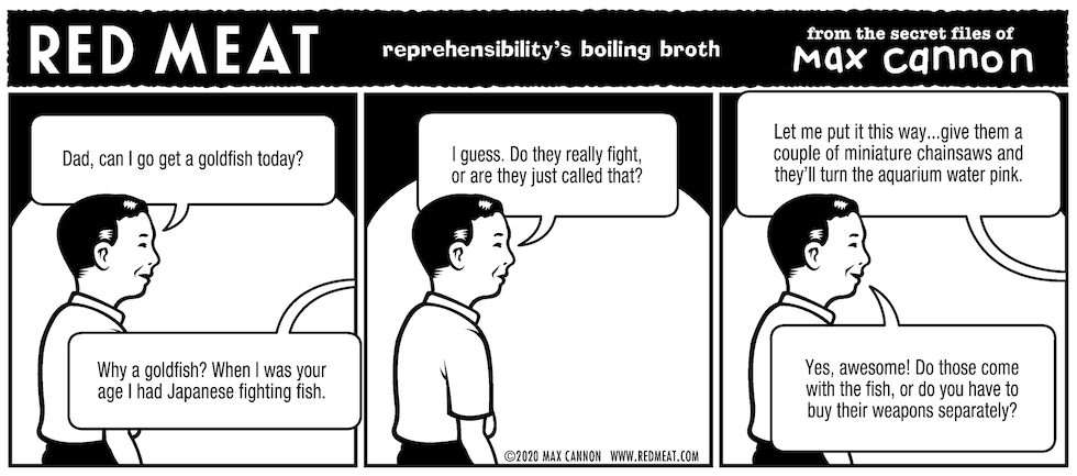reprehensibility's boiling broth