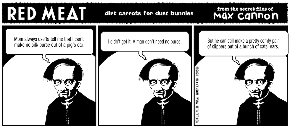 dirt carrots for dust bunnies