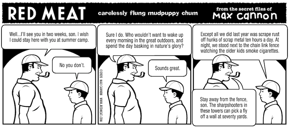 carelessly flung mudpuppy chum