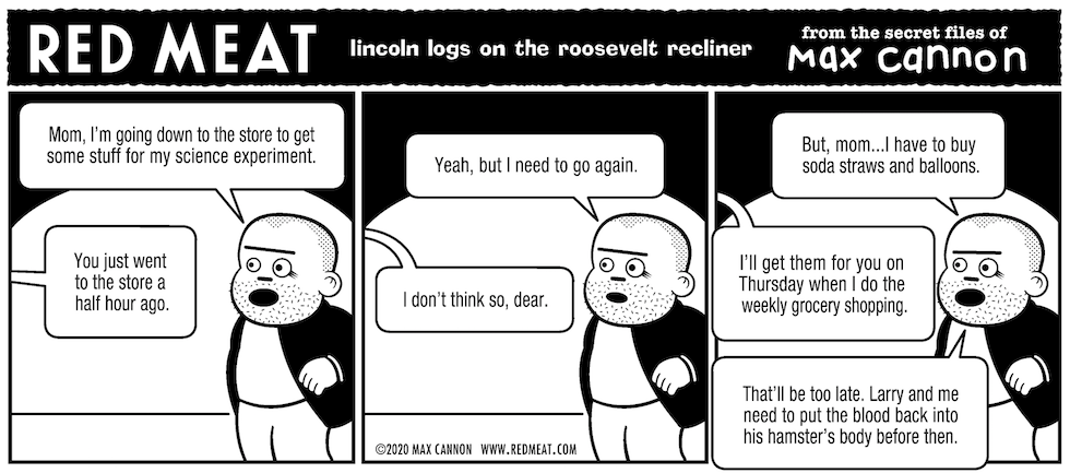 lincoln logs on the roosevelt recliner