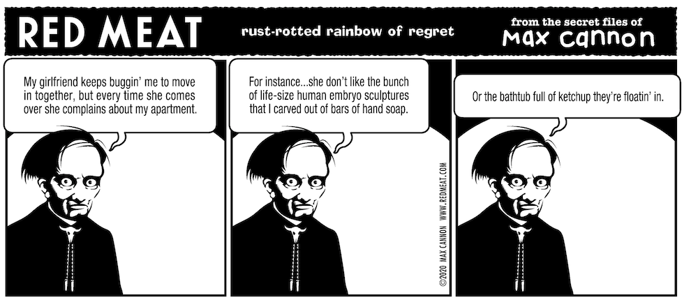 rust-rotted rainbow of regret