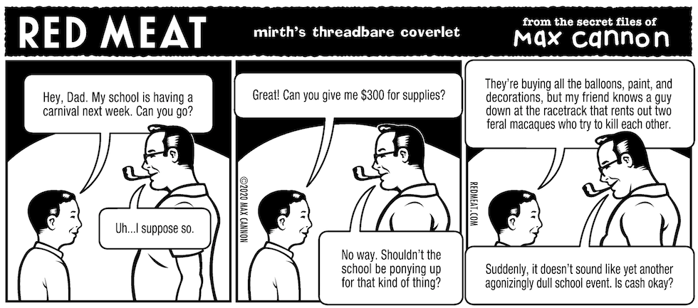 mirth's threadbare coverlet