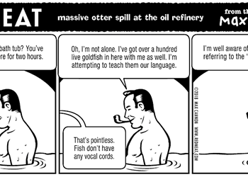 massive otter spill at the oil refinery