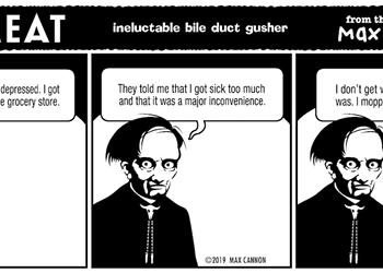 ineluctable bile duct gusher