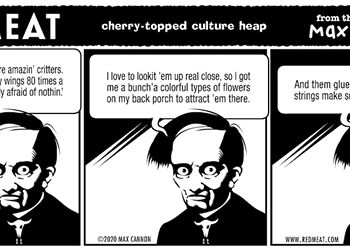 cherry-topped culture heap