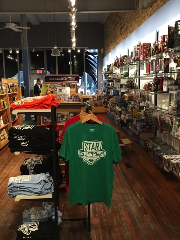 The new store features an increased emphasis on gaming, along with merchandise aimed at luring tourists on their way to and from the City Museum. - PHOTO BY JEREMY ESSIG