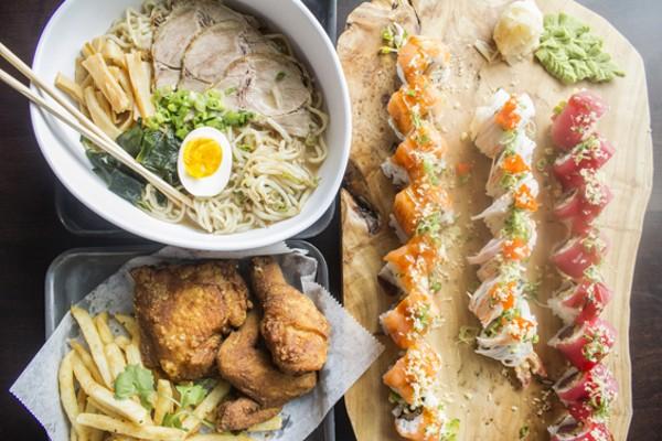 Ramen, sushi and fried chicken. - MABEL SUEN