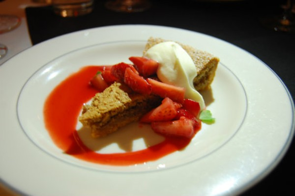 Brown Butter-Pecan Tart with strawberries and orange blossom - PHOTO BY SARAH FENSKE