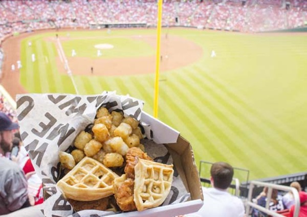 Tots and chicken and waffles always taste better in a beautiful environment. - MABEL SUEN
