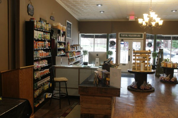 The interior of Organics, a spacious and uncluttered store on South Kingshighway. - PHOTO BY SARAH FENSKE