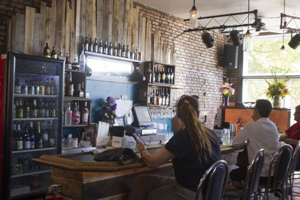 Goodman redid the bar herself. - PHOTO BY SARAH FENSKE