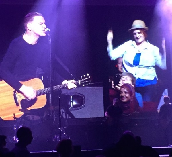 Bryan Adams and a fan at the Fabulous Fox. - PHOTO BY JEREMY ESSIG