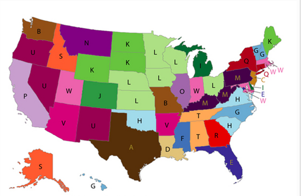 The new map from the Centers for Disease Control. See below for a version with key. - COURTESY OF THE CDC