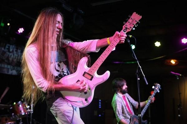 Tok, seen here performing at this year's RFT Music Showcase, was voted Best Hard Rock band. - DEREK SCHWARTZ