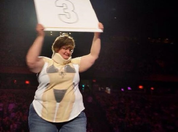 Aunt Claudette: professional Internet troll, amateur ring girl. - PHOTO BY COURTNEY STABLER