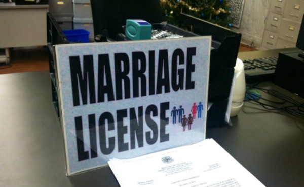 St. Louis City Hall has been handling same-sex marriages for some time now. St. Charles? Not so much. - PHOTO BY SARAH FENSKE
