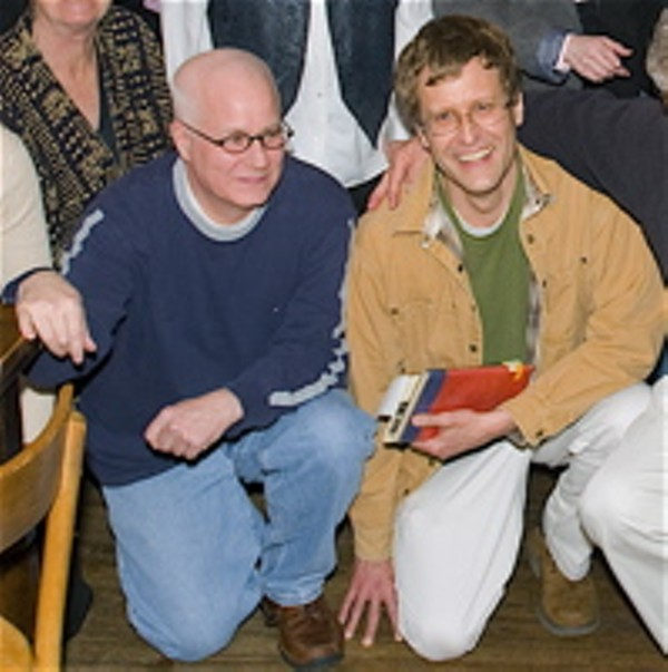And that's Andy on the left,  - alongside Brian Cochran. - JENNIFER SILVERBERG
