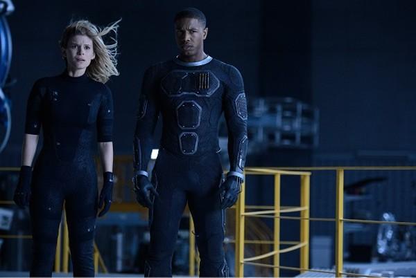 Kate Mara as Sue Storm and Michael B. Jordan as Johnny Storm. - BEN ROTHSTEIN