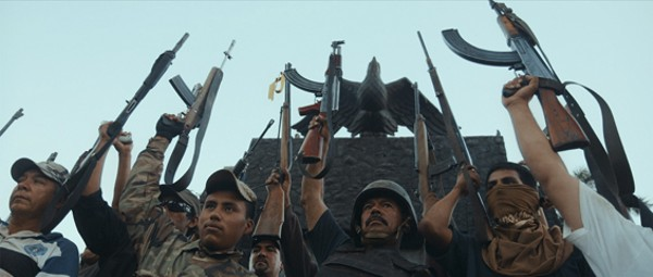 Autodefensas rally in Michoacán, Mexico. - FROM CARTEL LAND, A FILM BY MATTHEW HEINEMAN