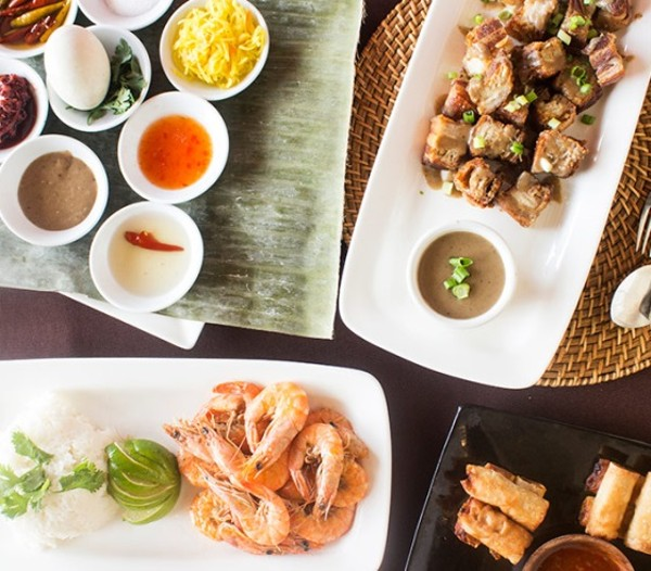 A sample of Kamayan's Filipino buffet - PHOTO BY MABEL SUEN