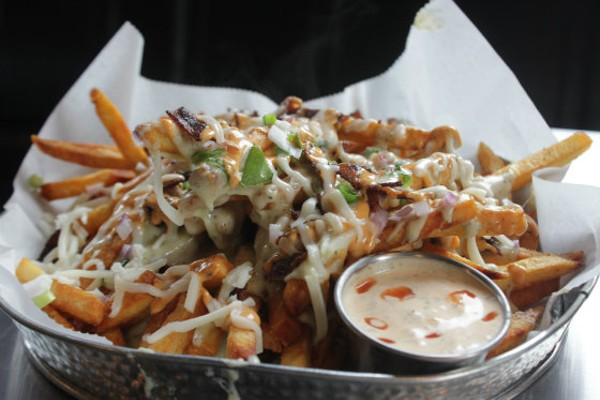 Loaded fries at Twisted Ranch -- with a side of ranch, natch. - PHOTO BY SARAH FENSKE