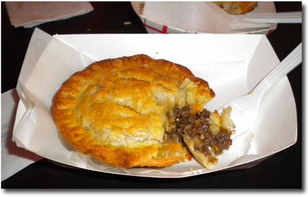 A Silver Ballroom meat pie, fresh from the kitchen. - DEBORAH HYLAND