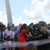 Black St. Louis Corrected Tuesday's Arch Screwup, Cutting That Ribbon All Over Again