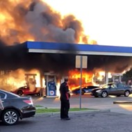 Incredible Dumbass Turns Lamborghini into Fireball at St. Louis Gas Station